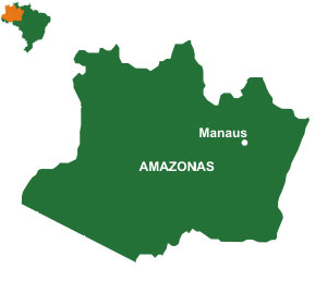 Mapa do estado Amazonas