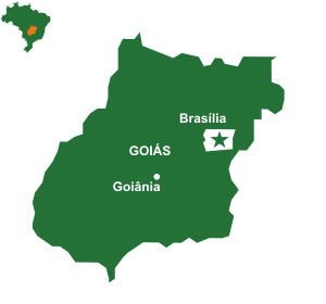 Mapa do estado Goiás