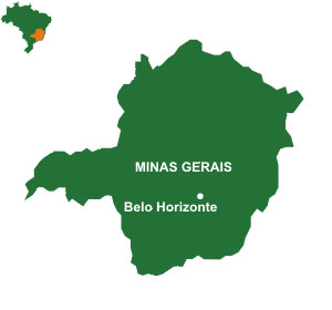 Mapa do estado Minas Gerais