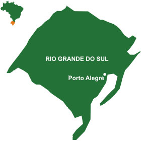 Mapa do estado Rio Grande do Sul