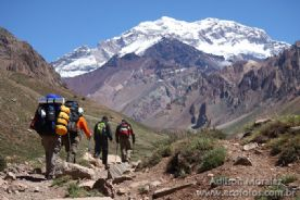 Trekking at� Plaza de Mulas