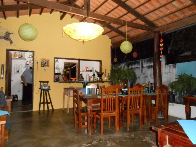 Restaurante e area do cafe