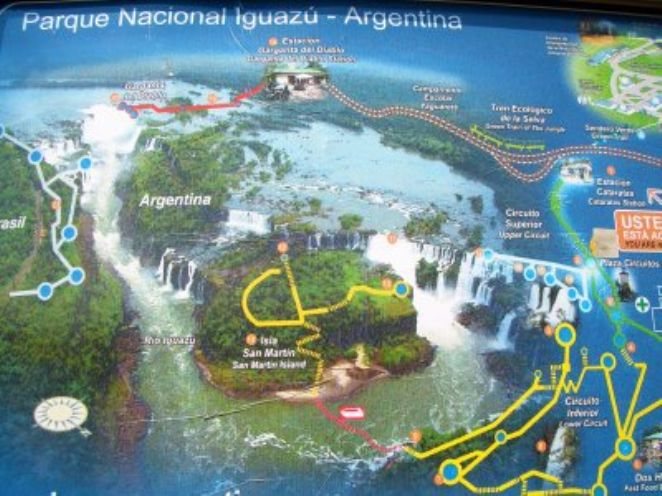 Mapa Cataratas do Iguaçu