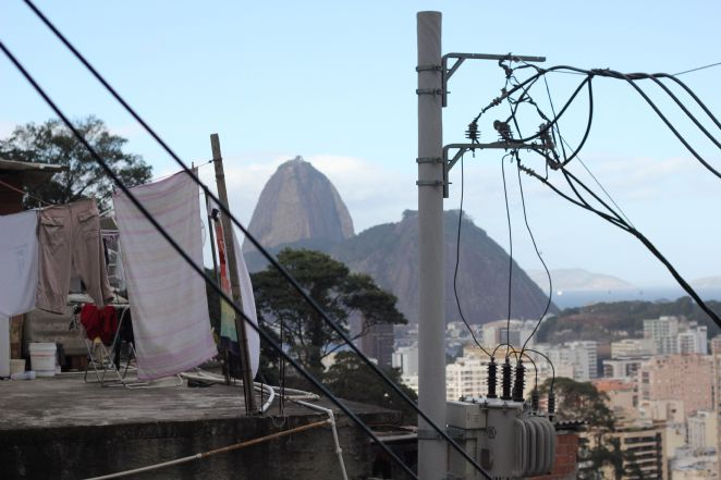 Vista do P�o de A�ucar da Favela