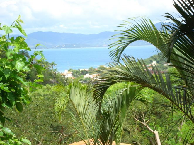 Ponta das Canas beach - view from the village