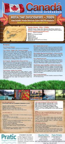 Pacote Canad� - Rota the Discovery 2009!